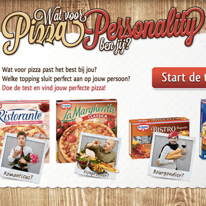 Dr. Oetker: Pizza personality