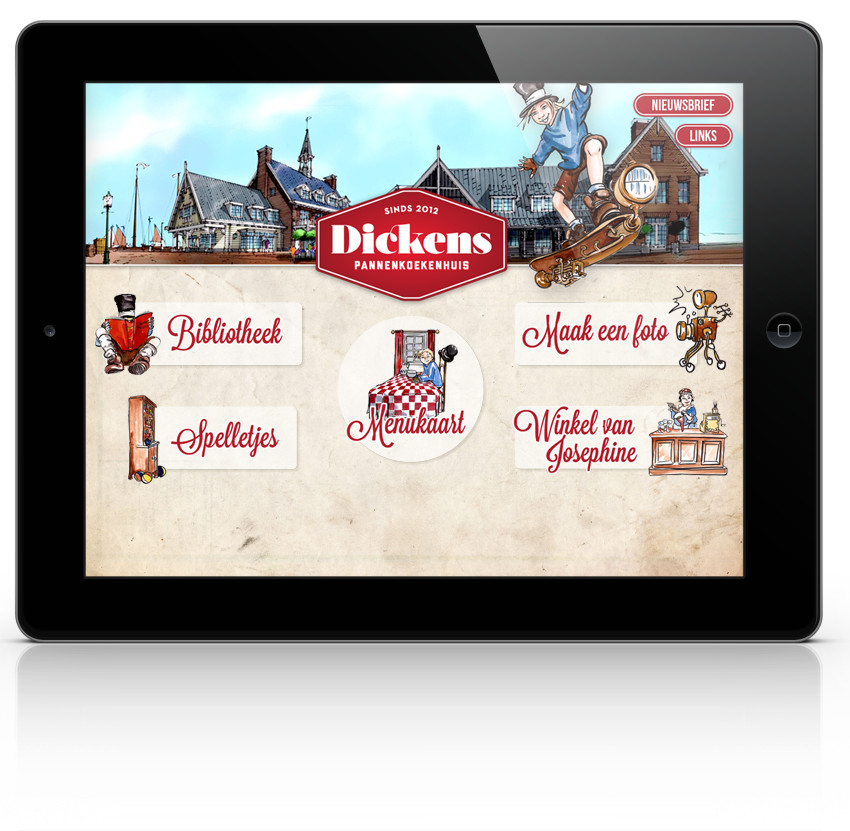 Dickens mobile app